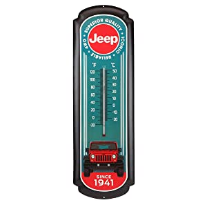 Jeep Embossed Metal Wall Thermometer