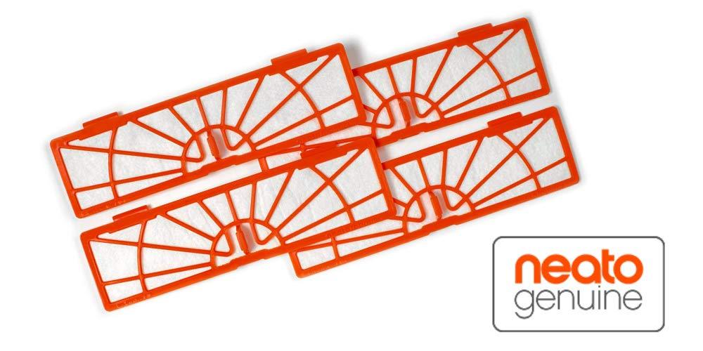 Neato 945-0122 - Paquete de 4 filtros para aspiradoras, color naranja: Amazon.es: Hogar