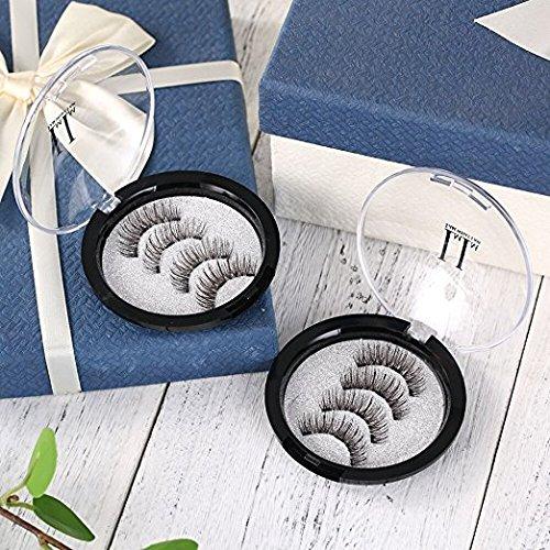 Magnetic Eyelashes 3 Magnets IMIM Magnetic False Eyelashes No Glue Magnetic Lashes Full Eye Natural Look Fake Eye Lashes Ultra Thin Reusable 3D Eyelashes (8 PCS/2 Pairs) by IMIM (Image #7)