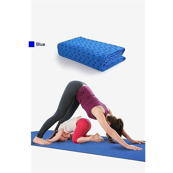 Amazon.com: Estera de toalla de Yoga antideslizante manta de ...