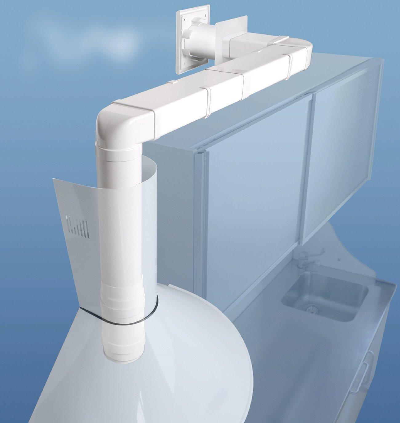La ventilation cg157b venu en ABS pour tuyaux da/ération rectangulaires 150/x 70/mm