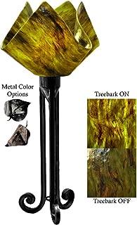 product image for Jezebel Signature Torch Light. Hardware: Black. Glass: Treebark, Flame Style