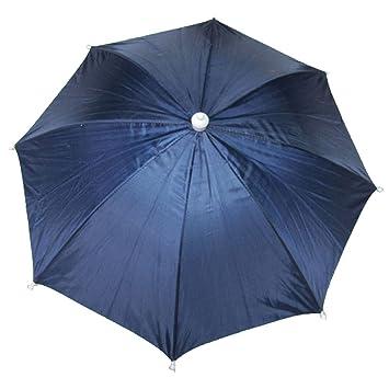 Azul Marino Prendas de cabeza Paraguas Sombrero w Ajustable Diadema