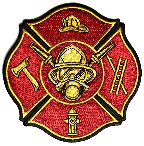 - FIRE FIGHTER SHIELD PATCH - Color - Veteran Owned Business.