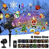 Meerveil LED Christmas Projector Lights with 16 Full Color Slides Motion Led Light Projector for Xmas,Halloween,Birthday,Party,Easter,Wedding,Holiday Decoration