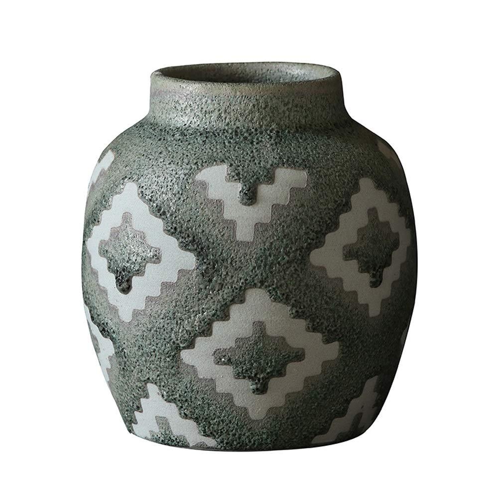花のための花瓶グリーン植物結婚式の植木鉢の装飾ホームオフィスデスク花瓶花バスケットフロア花瓶 (三 : A) B07R15N248  A