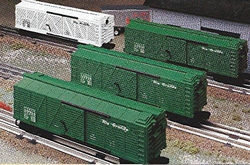 LIONEL TRAINS DENVER AND RIO GRANDE WESTERN STOCK CAR 4 PACK 21771 ()