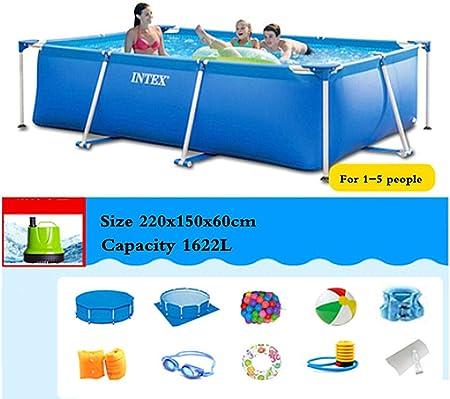 Phil Beauty Infantil Deluxe Splash Frame Pool Piscina Desmontable Tubular para Patio Jardín Playa Capacidad 7127L Buena Tenacidad Protector Solar Y A Prueba De Fugas,220x150x60cm: Amazon.es: Hogar