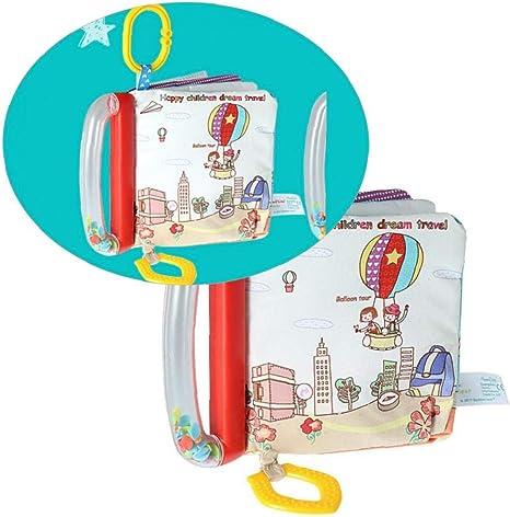 Los libros de pa/ño del beb/é Mordedor con gancho educaci/ón temprana juguetes de actividad de la arruga El libro de pa/ño para el ni/ño Los beb/és y ni/ños Viajes 1pc