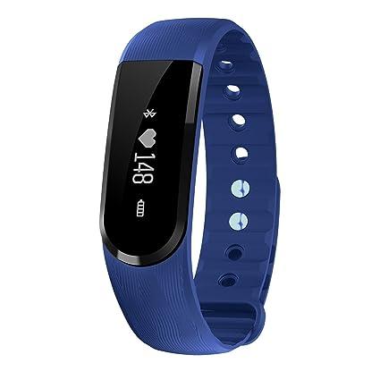 TINCINT ID107 Pulsera inteligente deportiva, con reloj, monitor de frecuencia cardiaca, Bluetooth, seguimiento de actividad, contador de calorías, ...