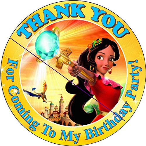 12 ELENA OF AVALOR - Birthday Party Favor Stickers/Labels for Gift, Goody Treat Bag (2.5 inches circle stickers, bags not included) ()