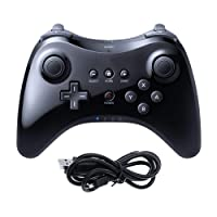 CooleedTEK Black Classic Wireless Game Controller Gamepad Joypad Remote for Nintendo Wii U Pro