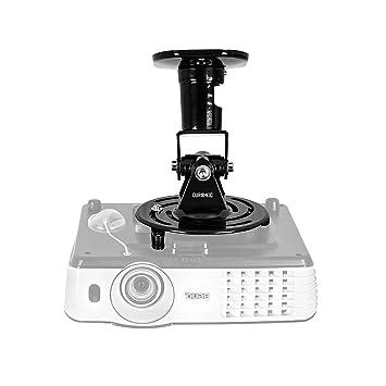 Duronic PB01XB Soporte para Proyector de Techo y Pared - Universal y Articulado - Carga Máx 10 kg - Color Negro - Cine en Casa