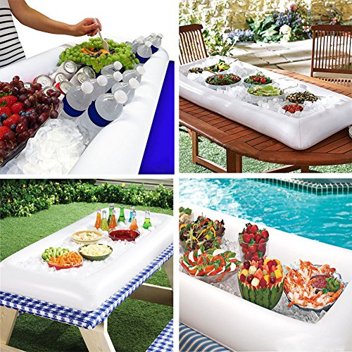 Jetloter Inflatable Serving Bar Salad Ice Tray Food Drink