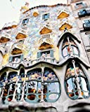 Barcelona travel photo Spain photography architectural decor Gaudi Building print