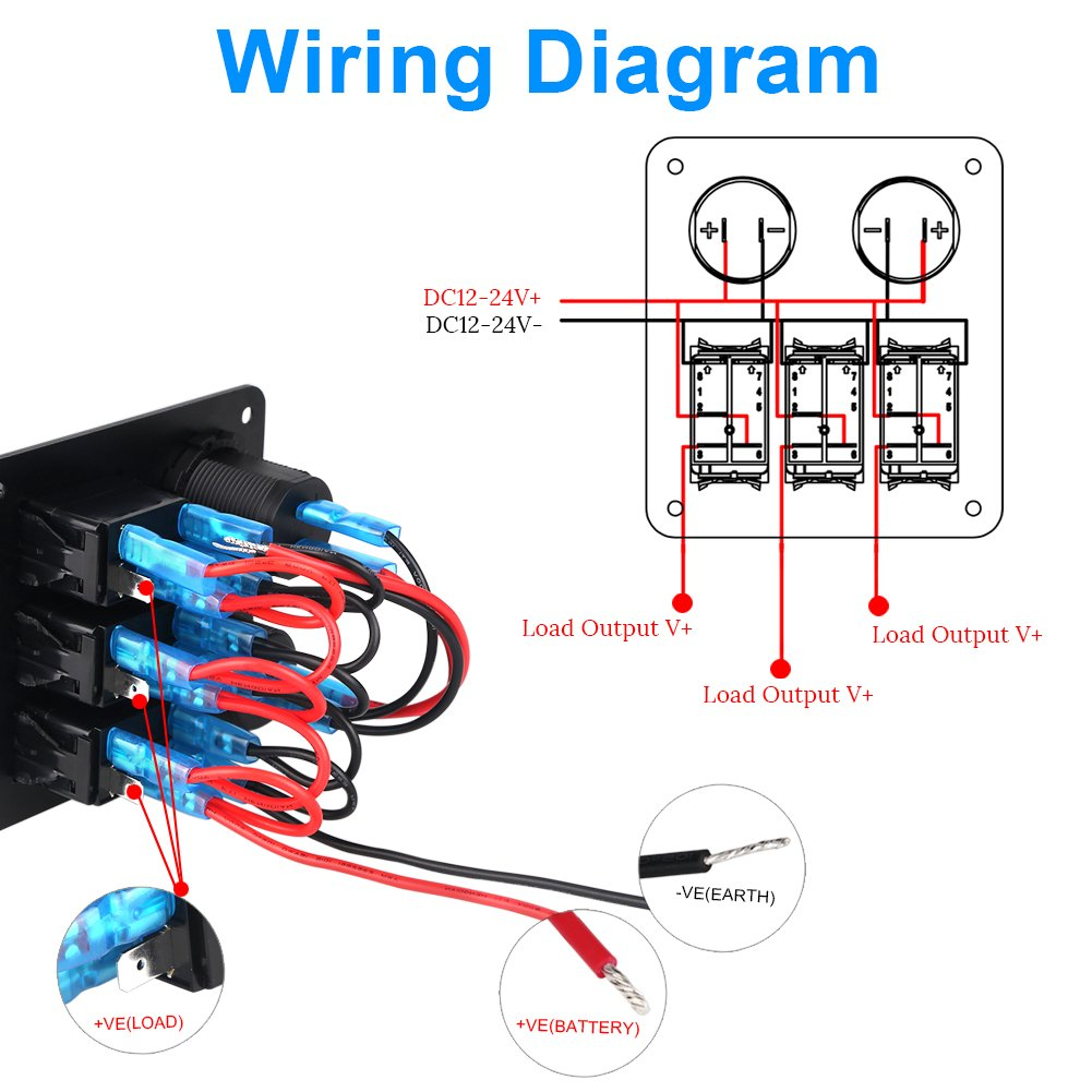 Waterwich 12 Way Blade Fuse Box Standard Circuit Holder Dc Block Wiring Diagram 32v With