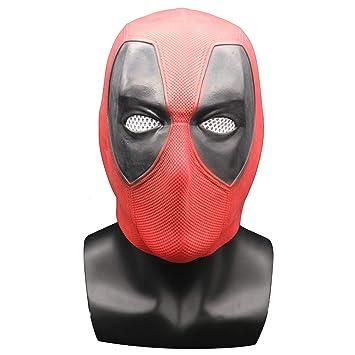 PHXSAR Máscara de Máscara de Halloween Cosplay Traje Casco Props Máscara de látex Overhead Party Mask