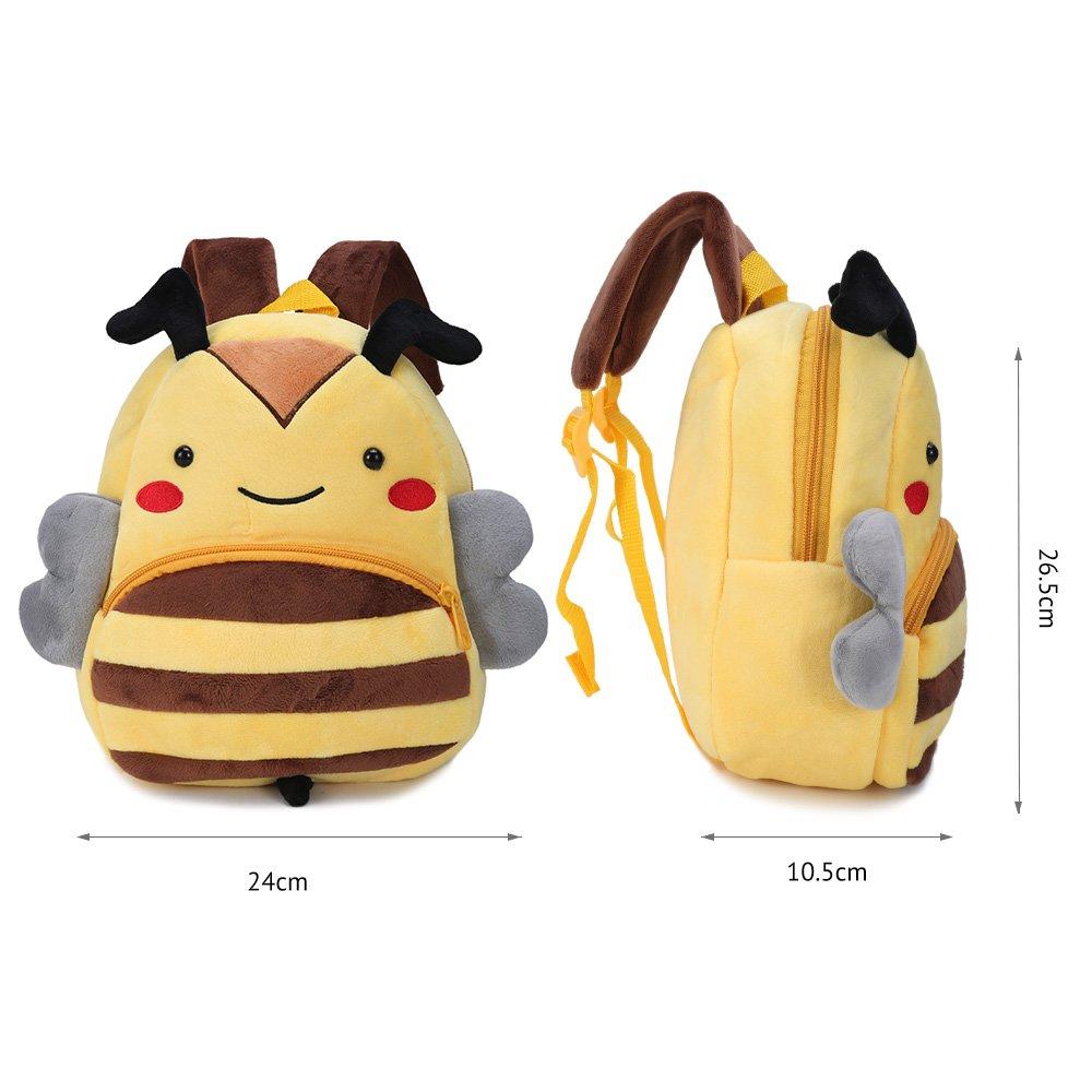 Mochila Kindergarten Genold Animales Bolsa Escuela Dibujos Animados para ni/ña y ni/ño 1-3 a/ños-abeja