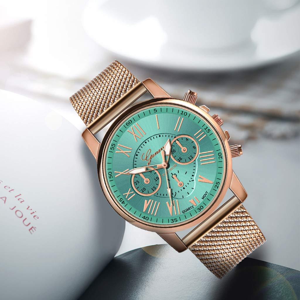 Pocciol Fashion Military Stainless Steel Quartz Watch Womens Casual Watch Luxury Analog Wristwatch (Green) by Pocciol Cheap-Nice Watch (Image #3)