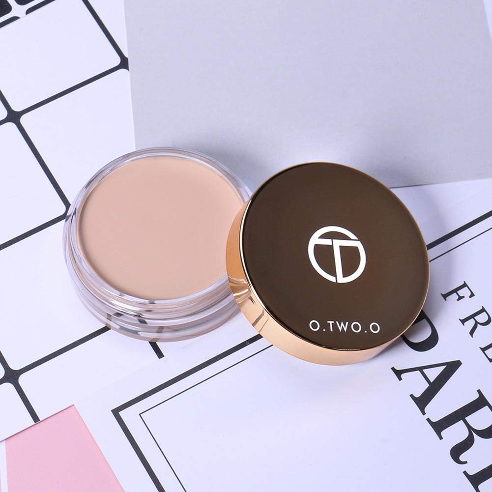 O.two.o Full Cover Concealer Oil Control No Makeup Meltdown Foundation Cream Moisturizing Waterproof Light Fresh Concealer Soft And Light Body Beauty & Health