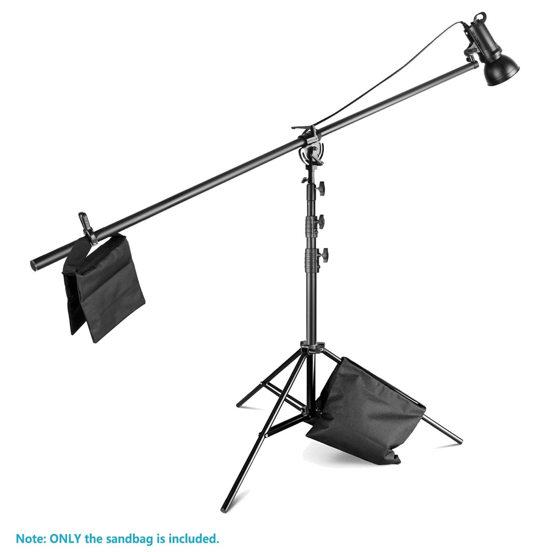Borsa Vuota Nero Neewer 8-Pack Borsa di Sabbia per Studio fotografico Supporti Braccioli con 6-Pack Muslin Clip di Morsetto a Molla