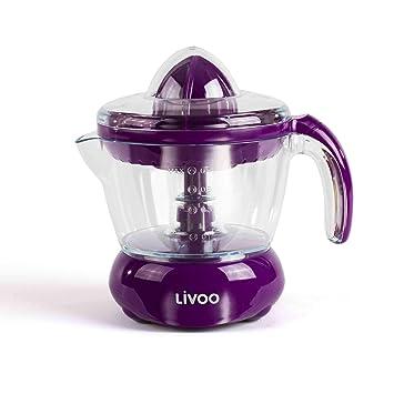 Exprimidor eléctrico de 700 ml, exprimidor de frutas con boquilla (exprimidor, zumo de naranja, zumo de limón, 2 conos de prensa, púrpura): Amazon.es: Hogar