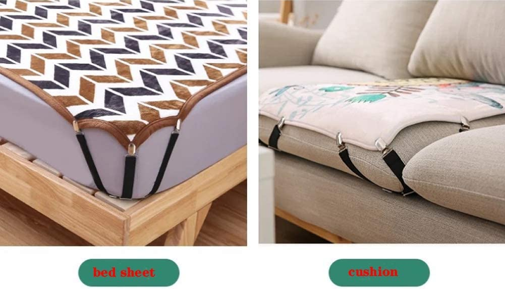 Etc Sofa Cushions Mattress Covers Nenluny 8PCS Bed Sheet Fasteners Can Be Adjusted with Elastic Sheets and Anti-Skid Devices to Cover Bed Mattresses