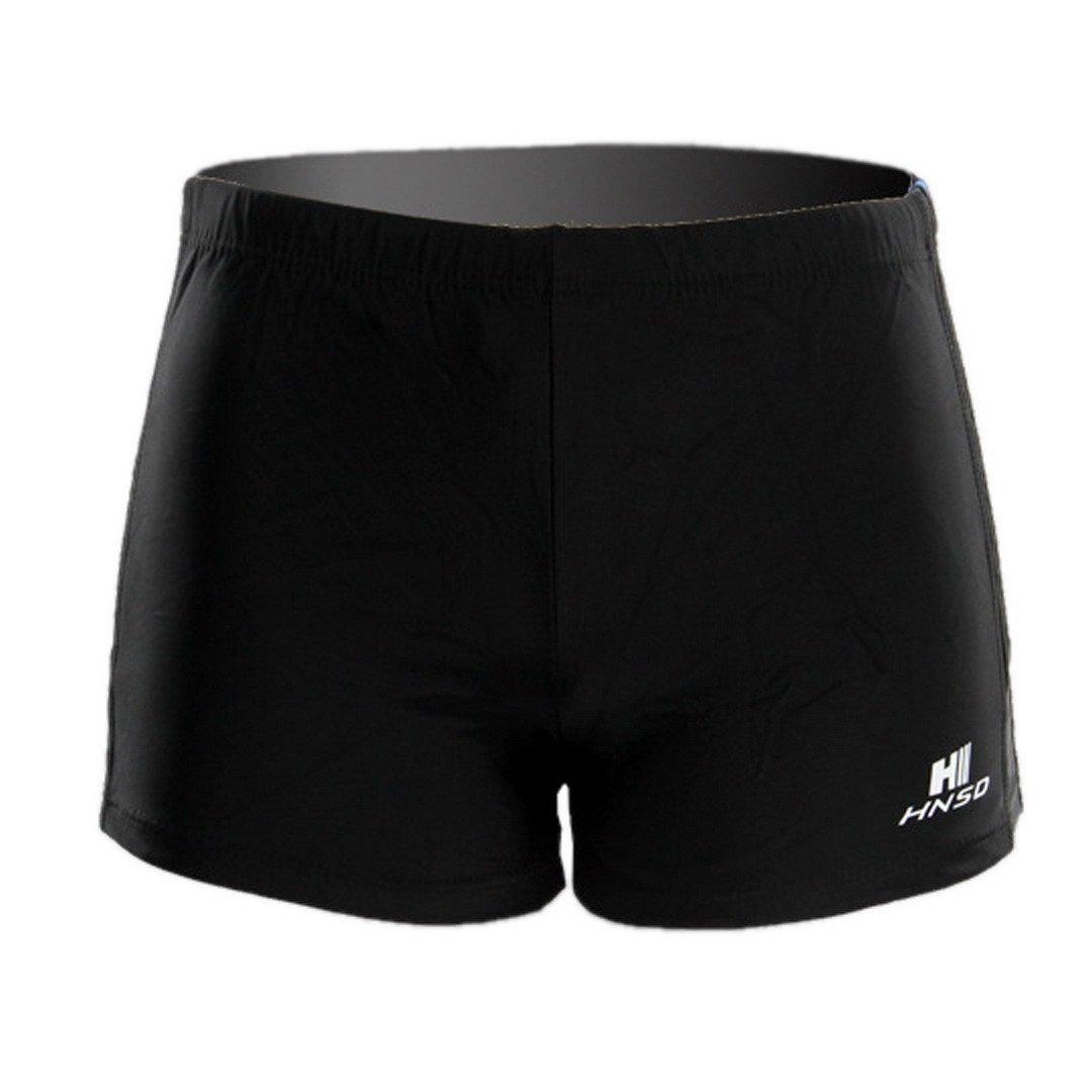 FEOYA Men's Square Leg Swimsuit Swimming Brief Swimming Trunks Swimming Shorts Size XXL - Black by FEOYA (Image #2)