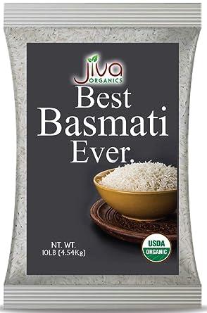 Jiva Organics - Bolsa de arroz orgánico de 10 lb – puro ...