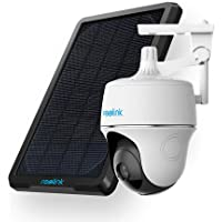 Reolink Argus PT w/Solar Panel, Wireless Pan Tilt Security Camera Solar Powered, Rechargeable Battery,Outdoor Home…