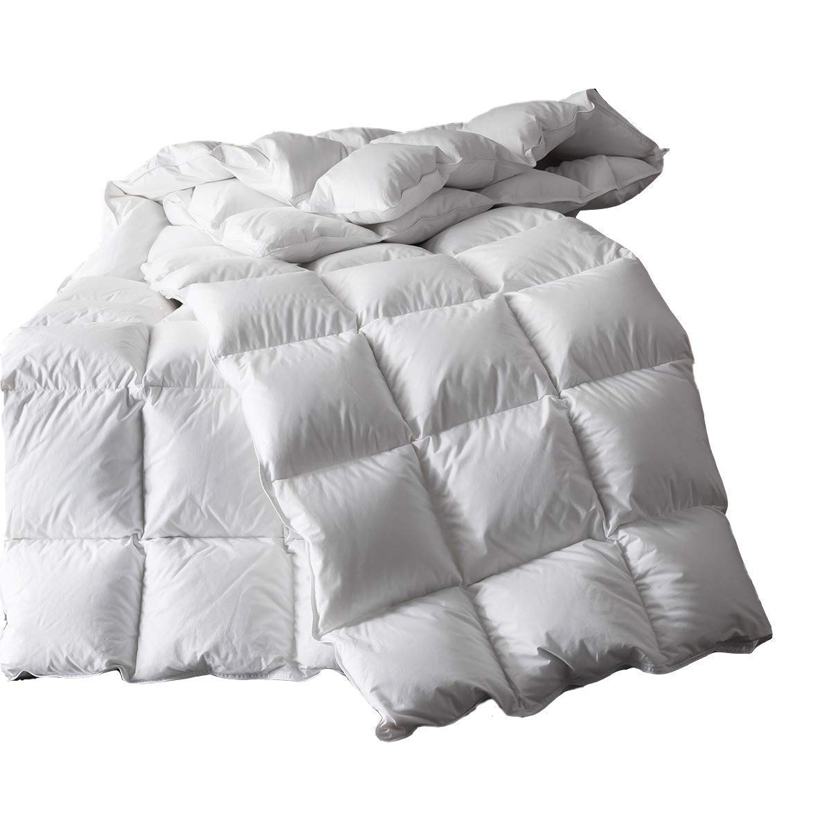 WR Down Comforter,All Season Goose Down Comforter,King Duvet Insert 1200 Thread Count 750+ Fill Power 100% Egyptian Cotton(106x90 White) (King Size)