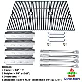 cast iron tube - Direct store Parts Kit DG159 Replacement Charbroil 463420507,463420509,463460708,463460710 Gas Grill Parts Kit (SS Burner + SS Carry-over tubes + SS Heat Plate + Porcelain Cast Iron Cooking Grid)