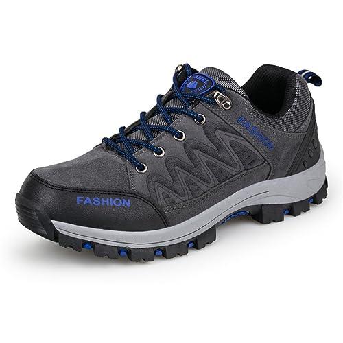 ailishabroy Zapatillas de Escalada de Ante para Hombre Montaña Excursionismo Zapato Trekking: Amazon.es: Zapatos y complementos