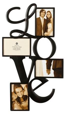 Burnes 4-Opening Venetian Copper Love Collage Frame : Target