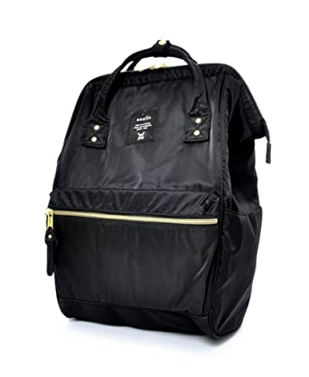 27858ba35caa Anello Lightweight Nylon Square Rucksack (Black)