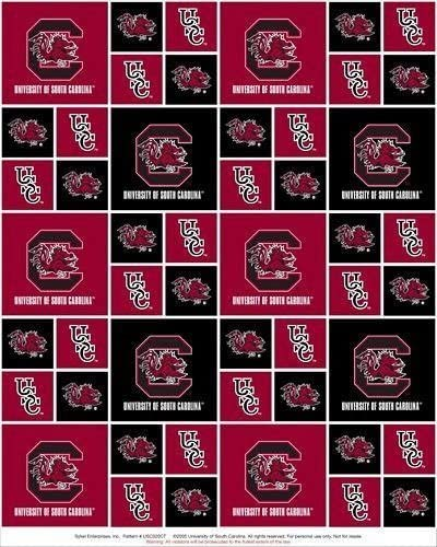 College University of South Carolina Gamecocks Print Fleece Fabric By the Yard