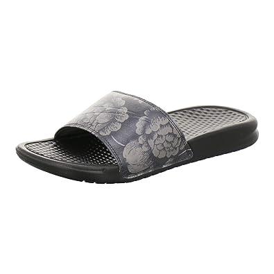 sports shoes f0048 50033 Nike WMNS Benassi JDI Print, Chaussures de Plage   Piscine Femme, Noir  Black 025