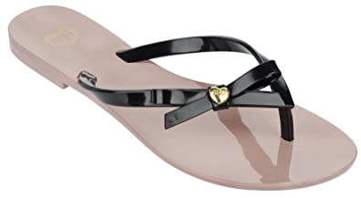2bf24d2f29e7d Mel By Melissa Shoes Honey 3 Nude Bow Thong Sandal Flip Flops (3 ...