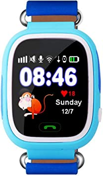 Niños Smart Watch pantalla a color Q90 niños anti-perdió reloj ...