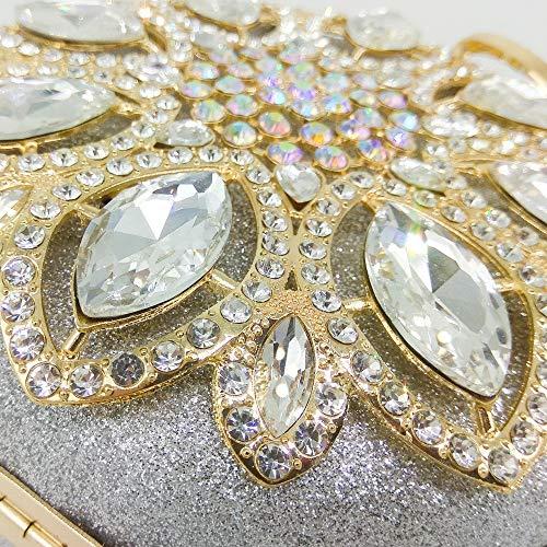 Mariage Sac Color discothèques pour Main Joy bandoulière à Silver Sac Sac Main soirée Miss Champagne à Embrayage à à Main Sac de à Main Messager Sac Femmes de W4SnqYBw