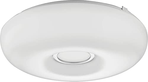 Lithonia Lighting FMKMRL 14 20840 KR M4 14-Inch 4000K LED Low Profile Flush Mount with Chrome Inner Ring, White