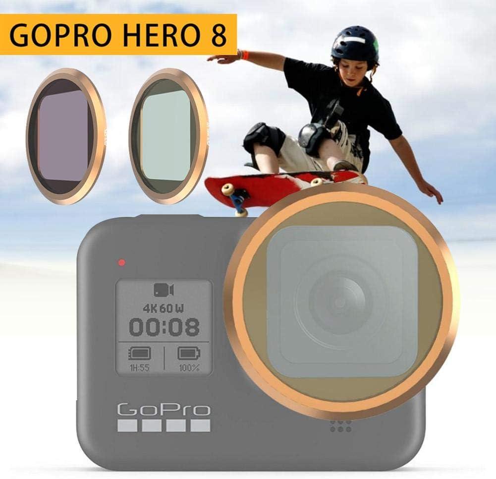 Filtre de cam/éra pour cam/éra GoPro Hero 8 Filtre UV CPL ou filtre 4 en 1 hero8 CPL-Filter R/épartiteur