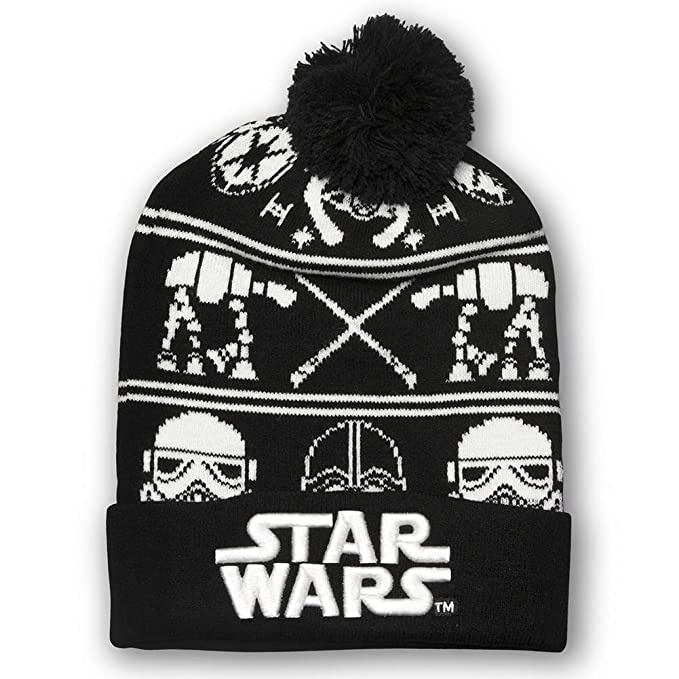 b9b6ed5aabc Amazon.com  Star Wars Knit Hat Standard Black  Clothing