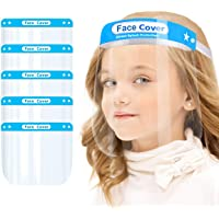 Kids Face Protective Shield Mask for Kids - Anti-Fog Full Face Cover with Clear Film, Clear Visor Transparent Safety…