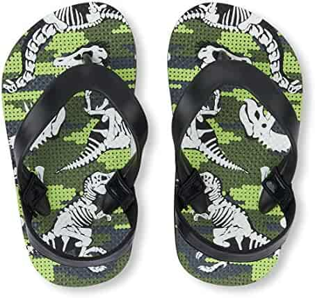 The Children's Place Kids' TB Dino FF Flat Sandal