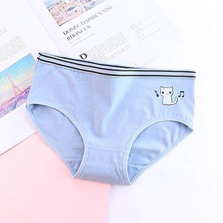 T-YIFUZX 2pcs Bragas de Mujer Bragas de Mujer Bragas para Mujer Calzoncillos Gril de algodón Ropa Interior Encantadora de Dibujos Animados Cat XL: Amazon.es: Hogar