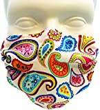 Breathe Healthy Dust, Allergy & Flu Mask - Comfortable, Washable Protection from Dust, Pollen, Allergens, Cold & Flu Germs with Antimicrobial; Asthma Mask; Paisley Punch (Adult)