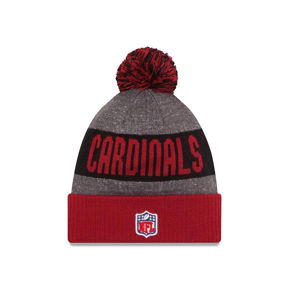 5e8ce4803e7ea4 Arizona Cardinals New Era 2016 NFL Sideline On Field Sport Knit Hat Red Cuff  11289266 Girls
