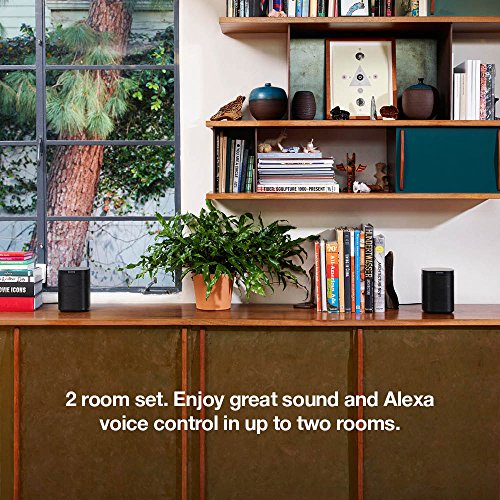2-Pack of Sonos One – Voice Controlled Smart Speakers with Amazon Alexa Built In (Black) - 2