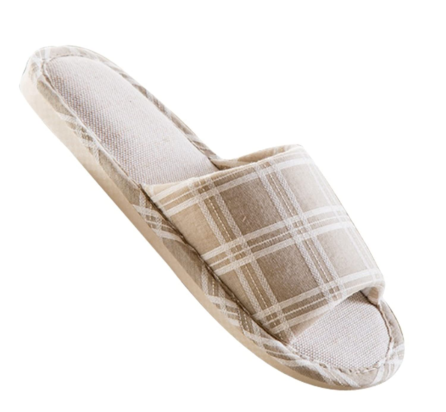 Cattior Mens Comfy Flax Open Toe Slippers House Slippers